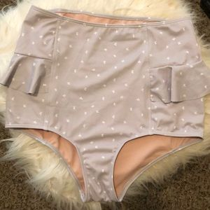 High rise swimsuit bottoms